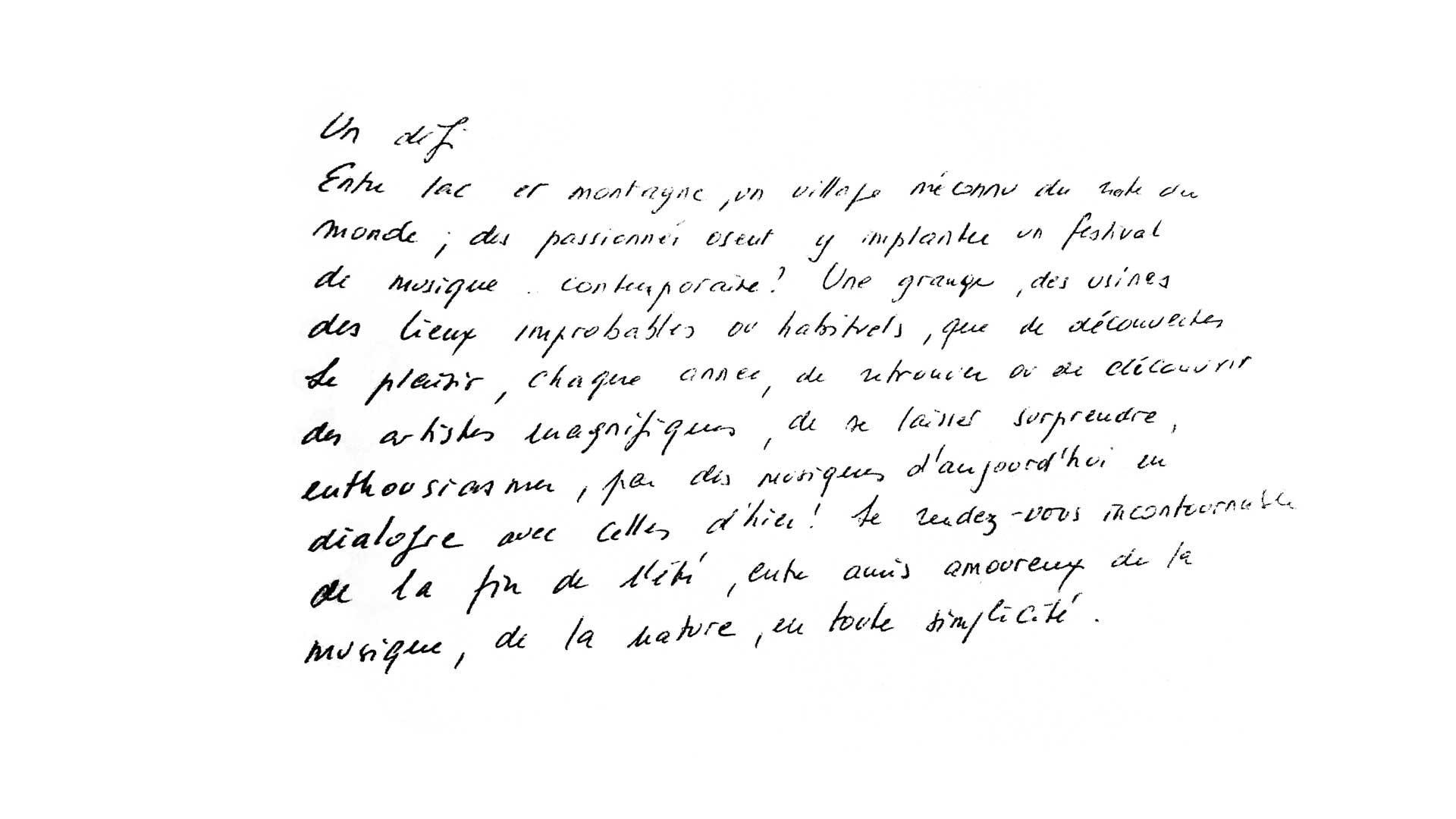 Texte de Josiane Greub